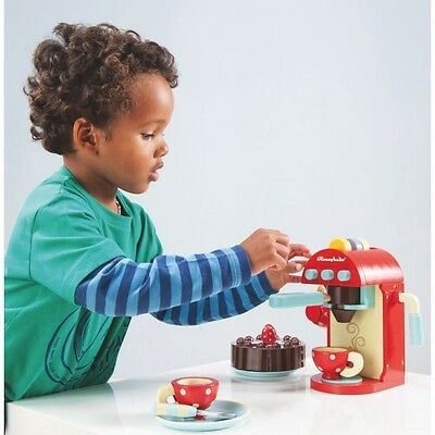 NEW Le Toy Van Wooden Chococcino Cafe Machine  - Kids Pretend Coffee Food Play