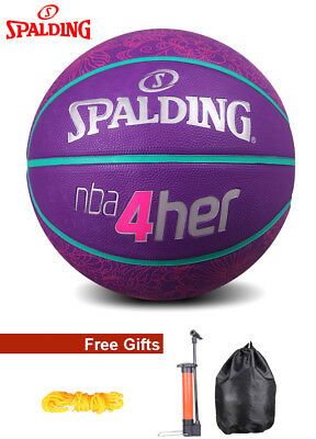 Women's Offical Size 6 Spalding Basketball NBA 4 Her--With FREE GIFTS
