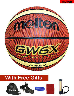 Women's official Size 6 Molten GW6X Composite Leather Basketball--With FREE GIFT