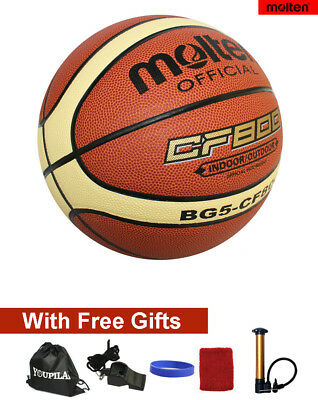 Kids Size 5 Molten BG5 Composite Leather Basketball--With FREE GIFTS