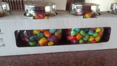 IKEA RAJTAN 4pce spice jars filled with Boiled Lollies Rock Candy Tiny Tots