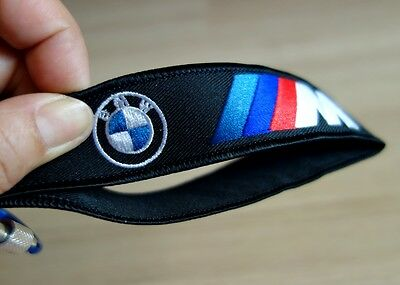 Keychain Keyring Embroidered Fabric Strap Bike Car For BMW Gift Free Shipping