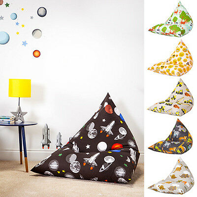 Large Childrens Pyramid Shape Bean Bag Chair Gaming Kids Beanbag Boy Girl Gamer