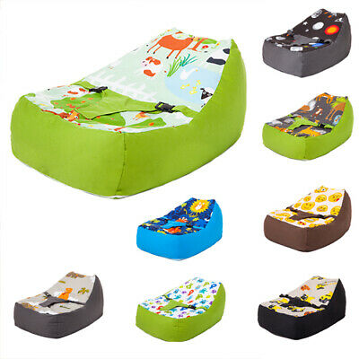 Nursery Baby Bean Bag with Harness Cotton Secure Zipped Cover Seat Chair Beanbag