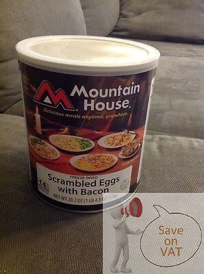 3X  MOUNTAIN HOUSE Scrambled Eggs With Bacon can dehydrated freeze dried food