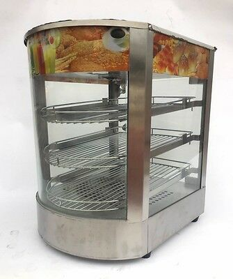 Commercial Counter Top Food Warmer Glass Display Case