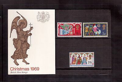 Great Britain 1969 Pamphlet #605/07 Set Mint Nh, Christmas !!
