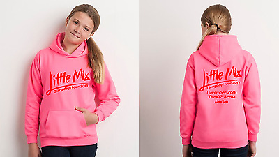 2017 Little mix Glory days tour hoodie personalised with venue date