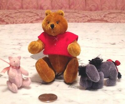 "Teddy Bear Artist Susan McKay ""Silly Willie Set"" Pooh,Piglet and Eeyore"