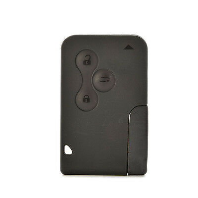 For Renault Megane Scenic Replacement 3 button Key Card Shell Case + Blade UK