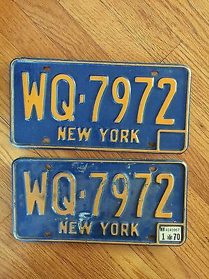 66 67 68 69 70 71 72 73 NY New York License Plate Auto Tag - PAIR