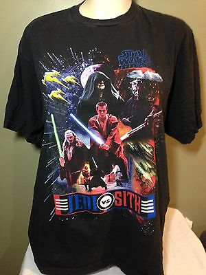 Vintage Star Wars Episode one Sith Vs Jedi special edition Mens XL T-shirt