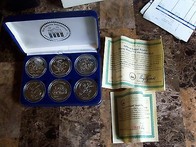 Extremely Rare Complete Set Of 6 Harry Potter Proof Silver Coins With Coa
