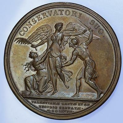 France - Louis XIV 1677 Capture of Valenciennes medal by Mauger