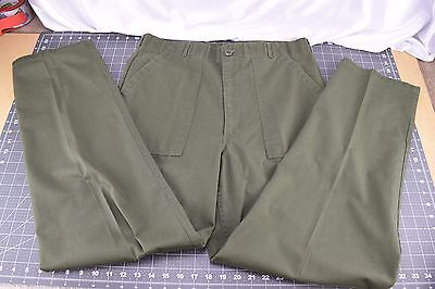 Vitg 80's OG-507 Army Pants Utility Trousers 36 x 33 32 US Green 405-00-610-2694
