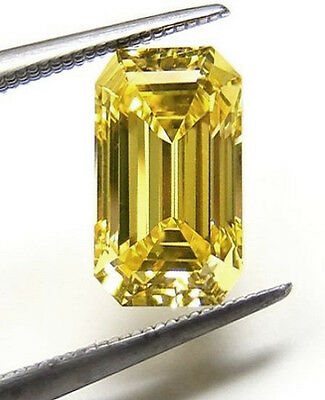 Garnet - Natural Yellow Grossular - RARE - 0.72 Carat - Emerald Cut