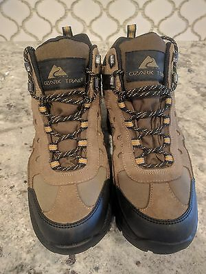 cd70b14300a OZARK TRAIL MENS Hiking Boots Putty 2 Waterproof Leather Brown Size 7 US