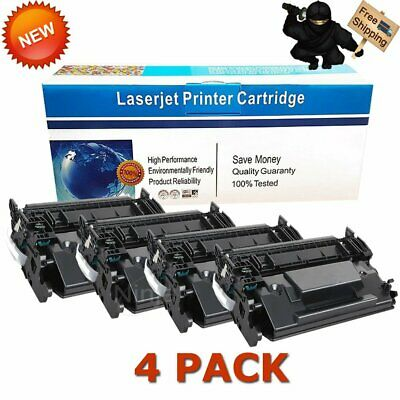 4 Pack High Yield CF226X 26X Black Toner Cartridge For HP LaserJet M402n M426fdw
