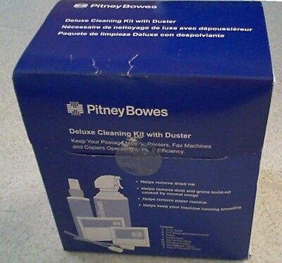 Pitney Bowes Deluxe Cleaning Kit with 2 10 oz Canned Air Duster CK0-3 NIB