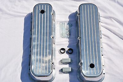 Polished Aluminum BIG BLOCK Chevy Tall Ball Milled Valve Covers BBC 396 427 454
