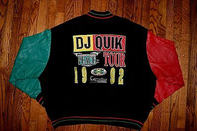 1992 DJ QUIK cross colours varsity crew jacket vtg 90s hip hop shirt rap colors