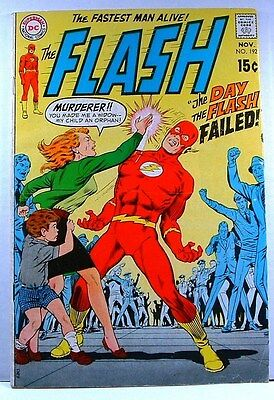 "DC Comics: The Flash #192 VG+ (1969) ""The Day The Flash Failed!"""