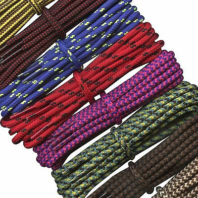 Boot Laces - 4 mm round - Multi coloured laces for walking and hiking boots