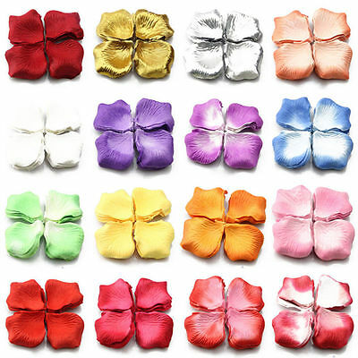 100/1000Pcs Silk Rose Flower Petals For Wedding Party Table Decoration Supplies