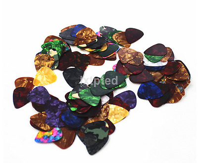 100x Pro Acoustic Bulk Celluloid Electric Smooth Guitar Pick Picks Plectrum~