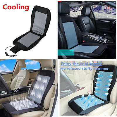 12V Car Seat Cushion Cover Cooling Air Ventilated Fan Conditioned Cooler Pad New