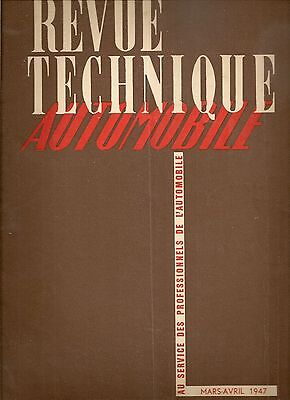 Revue Technique Automobile 11 Rta 1947 Camion Ford Canada C 298 T 4X2