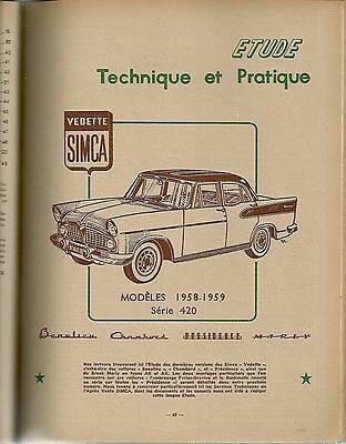Revue Technique Automobile 158 Rta 1959 Simca Vedette 1958 1959 Regu Hydr Diesel