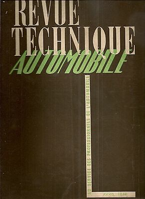 Revue Technique Automobile 24 Rta 1948 Peugeot 201 C
