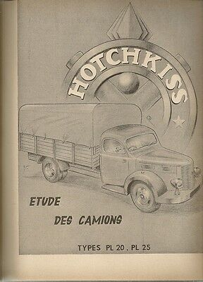 Revue Technique Automobile 93 Rta 1954 Camion Hotchkiss Pl 20 Pl 25 Pl20 Pl25