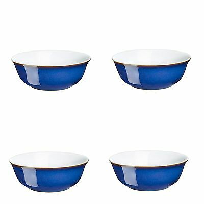 Denby Imperial Blue Soup Cereal Bowls 16cm 4 Pack 1st Quality 40% Off RRP