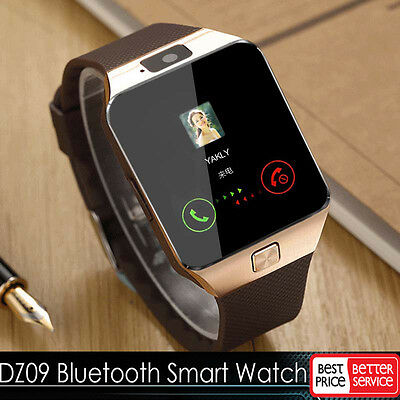Gold DZ09 Bluetooth Smart Watch GSM SIM for iPhone Samsung Android Phone Mate LG