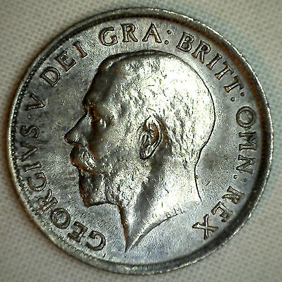 1918 Shilling England Silver Coin Lion World Coin Great Britain George V XF #R