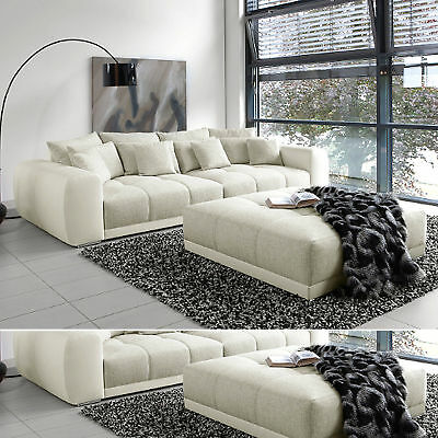 xxl sofa giant lounge in greige couch wohnlandschaft big sofa eur 799 95 picclick de. Black Bedroom Furniture Sets. Home Design Ideas