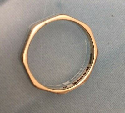 Men's/Women's 9ct Gold Ring Vintage Wedding Band Size O Stamped W1.82g