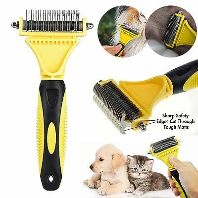 Pet Cat Dog Dematting Grooming Deshedding Trimmer Tool Hair Fur Comb Brush Rake