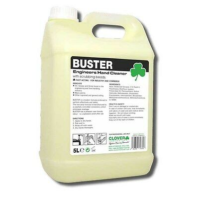 Clover Chemicals Buster Engineers Hand Cleaner Soap - Scrubbing Beads (2 X 5L)