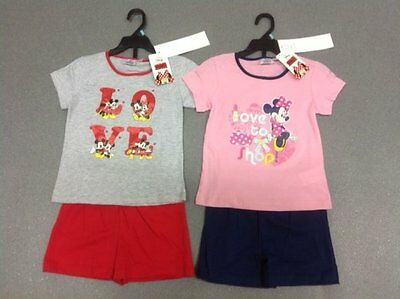 Disney Children's girl's Minnie Mouse summer Shorts and top set
