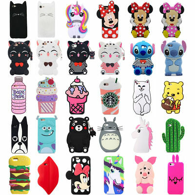For Huawei Phone Case Cover HOT 3D Cartoon Cute Animals Soft Silicone Back Skin