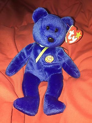"TY BEANIE BABY..""1998 CLUBBY""  THE  BEAR - RETIRED! - tag yellowed"