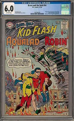 Brave and the Bold #54 CGC 6.0 (OW) Origin & 1st appearance of Teen Titans