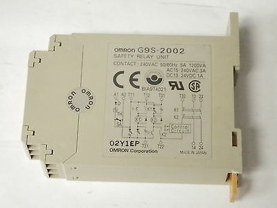 Omron G9S-2002 Safety Relay Unit Dc24V With 12 Contacts