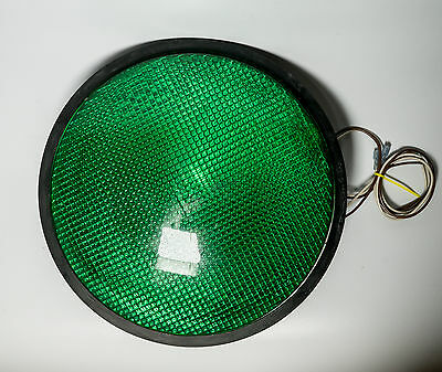 "Dialight Green Traffic Light Signal LED 12"" Plastic Lens Gasket ManCave Bar 6977"