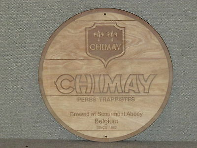 CHIMAY Beer Wood Sign barrel top style