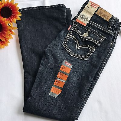 Girl's NWT Levi's Boot Cut jeans stretch denim size 7 regular
