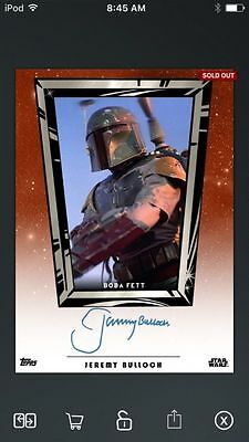 Topps Star Wars Digital Card Trader Boba Fett Galactic Icons Insert